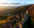 Belle video vu du ciel de Ribeauvillé et l'Alsace.